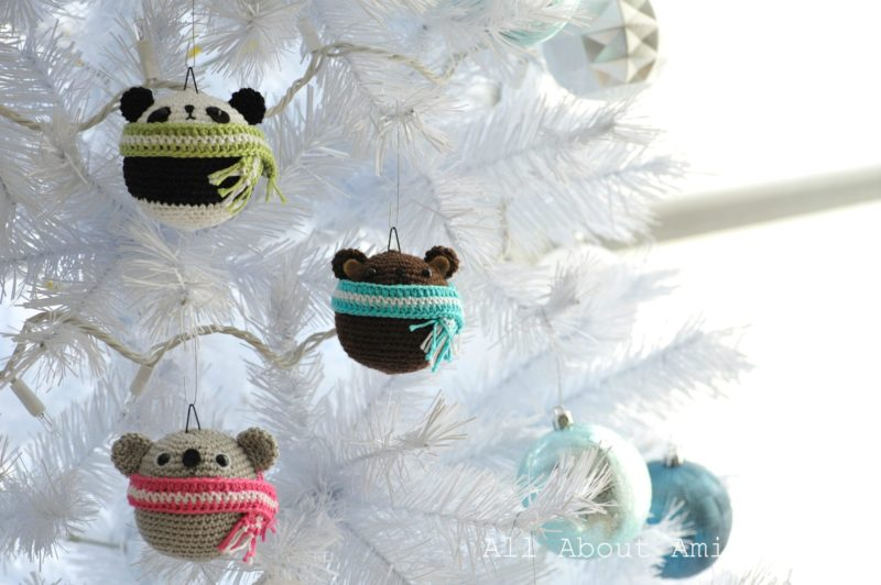Amigurumi Teddy Ornaments