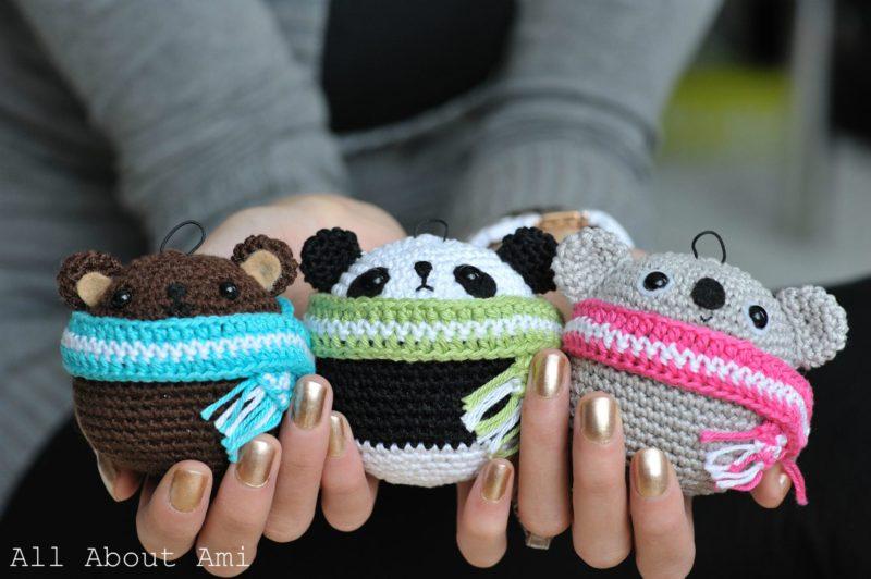 Amigurumi Panda Bear Crochet Pattern : Pattern teddy ornaments all about ami