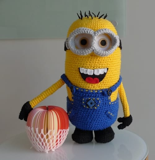 Hand Crochet Despicable Me One-Eye Minion Made to Order NEW!