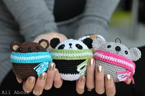 Pattern: Teddy Ornaments