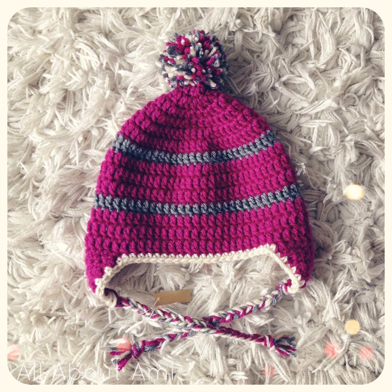 Baby Pom Pom Earflap Hats All About Ami