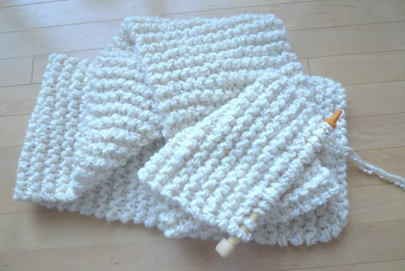 Knitting For Beginners Simple Garter Stitch Scarf All About Ami