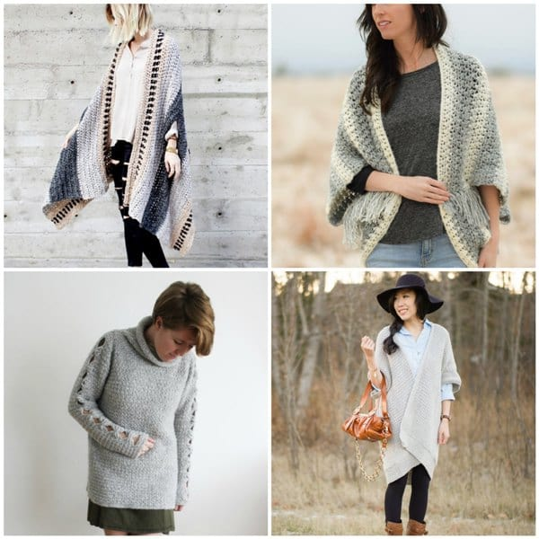 Crochet Sweater Wraps