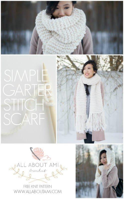 Simple Garter Stitch Scarf