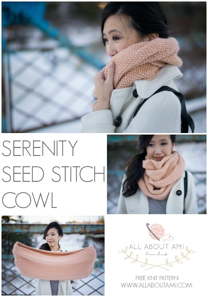 Serenity Seed Stitch Cowl - All About Ami