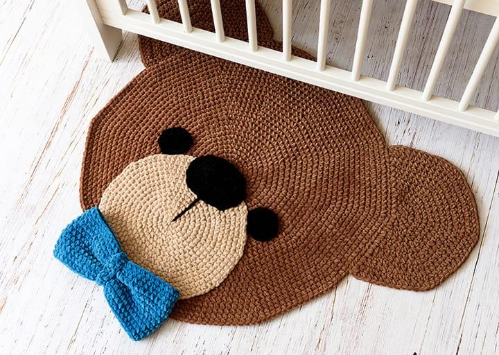 Crochet Teddy Bear Face Applique | Etsy | 512x720