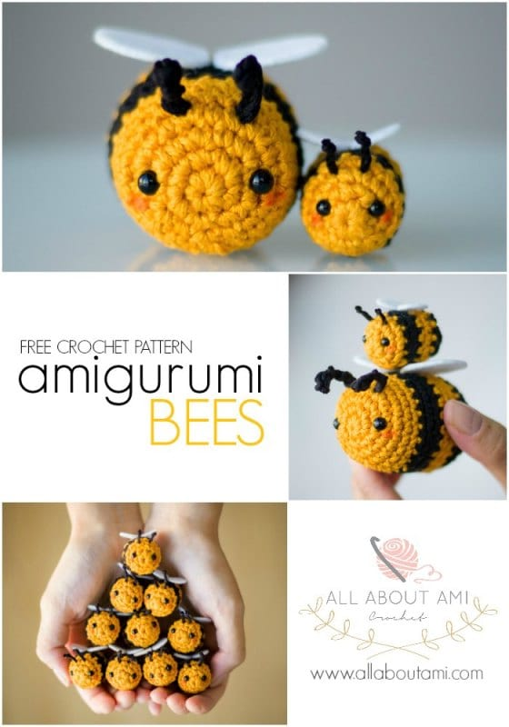 Amigurumi Bees Pattern: Bumble & Queen Bee - All About Ami