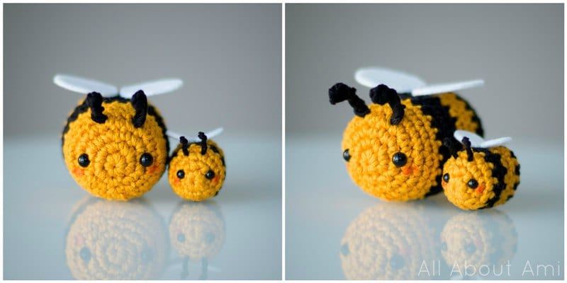 Lovely Bee Amigurumi - Pattern Center | 400x800