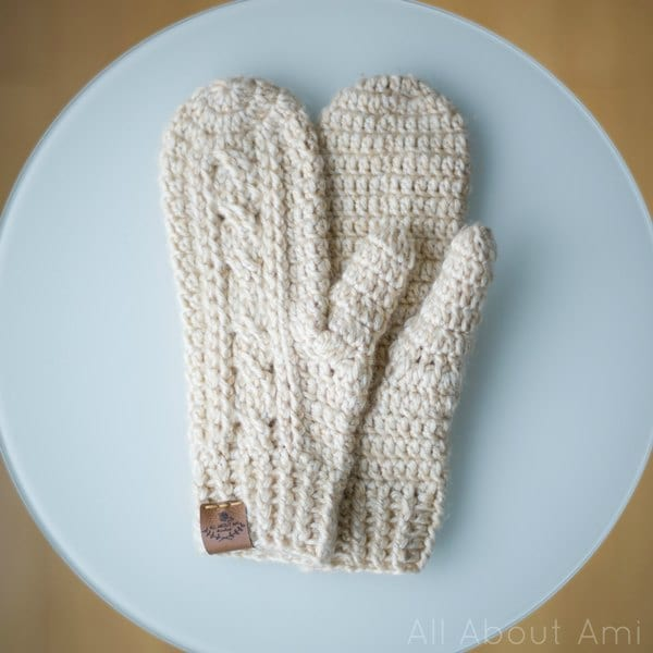Crochet Cabled Mittens All About Ami