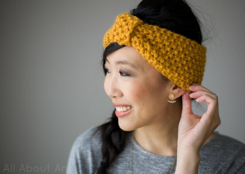 Knitting For Beginners Simple Seed Stitch Headband All About Ami