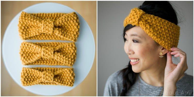 Seed Stitch Headbands