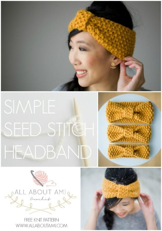 Knitting for Beginners: Simple Seed Stitch Headband - All