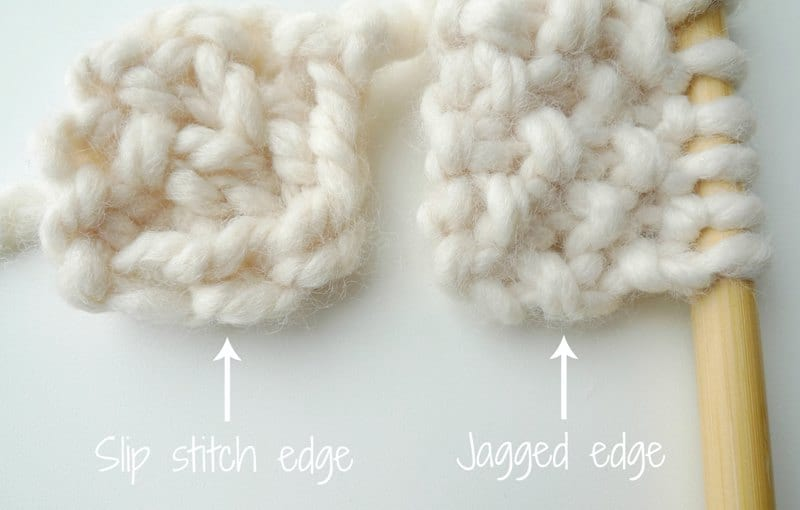Knitting Edge Slip Stitch : Knitting for beginners how to knit the seed stitch all