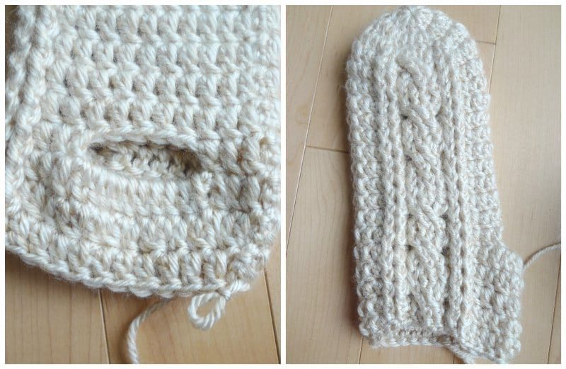 Crochet Cabled Mittens - All About Ami