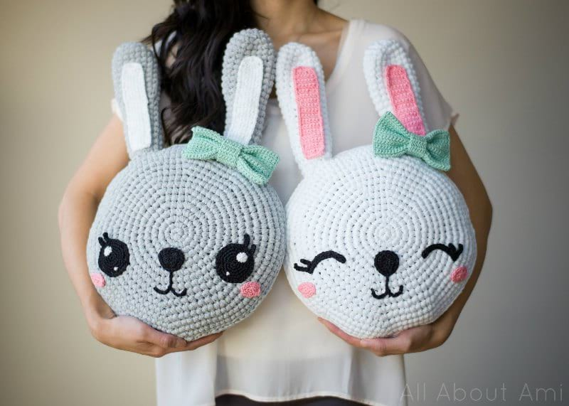 Crochet Snuggle Bunny Pillows