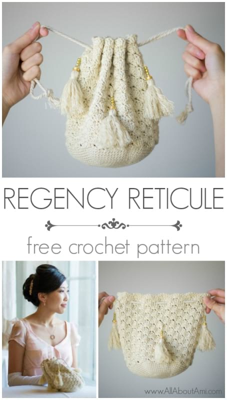 Crochet Regency Reticule - All About Ami