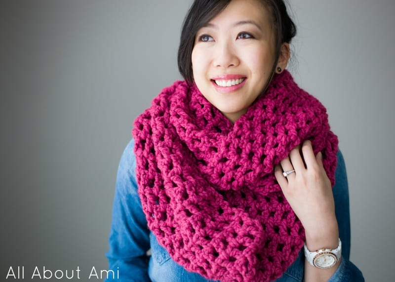 "My very first campaign with Lion Brand Yarn was for the  scarfie project  (selfie + scarf) several years ago. I designed the ""Twist Cowl""- a textured  cowl ... 825081e68a8"