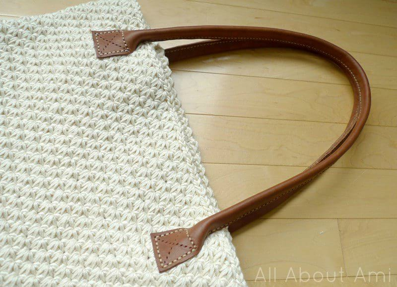 How to Sew Leather Handles for Crochet and Knit Purses