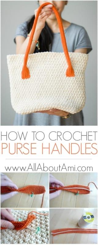 12310e90c247 How to Crochet Purse Handles