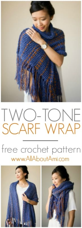 Two Tone Scarf Wrap All About Ami