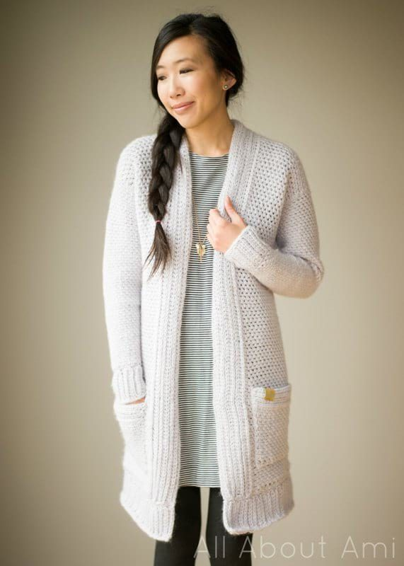 Pattern The Granite Cardigan All About Ami