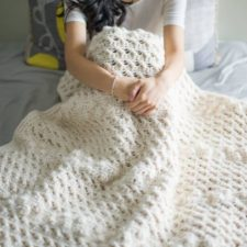 Cross Bobble Blanket