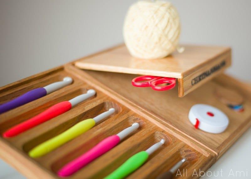 Chetnanigans Bedside Comfort Crochet Organizer/Workstation