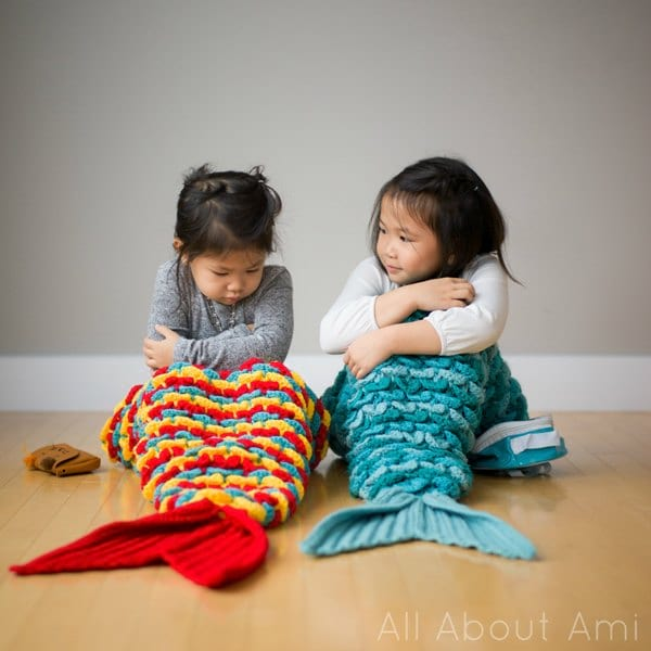 Crocodile Stitch Mermaid Tail Blanket All About Ami