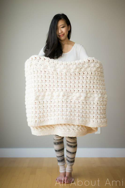 Cross Bobble Blanket