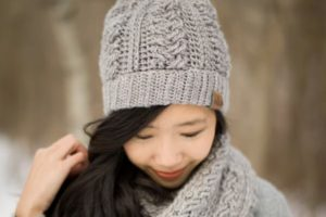 Braided Cabled Cowl & Slouchy Beanie