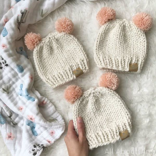 a8169091af7a Basic Knitted Baby Hat - All About Ami