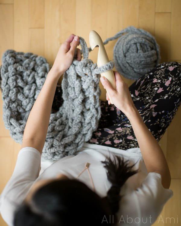 Jumbo Alpaca Crochet Scarf