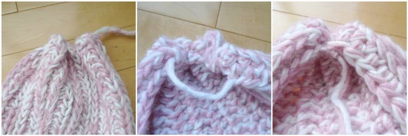Snow Puff Ribbed Scarf