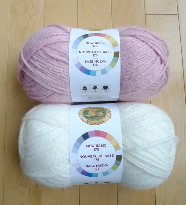 New Basic 175 Yarn - Peony & Cream