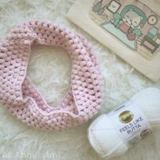 Child Puff Stitch Cowl