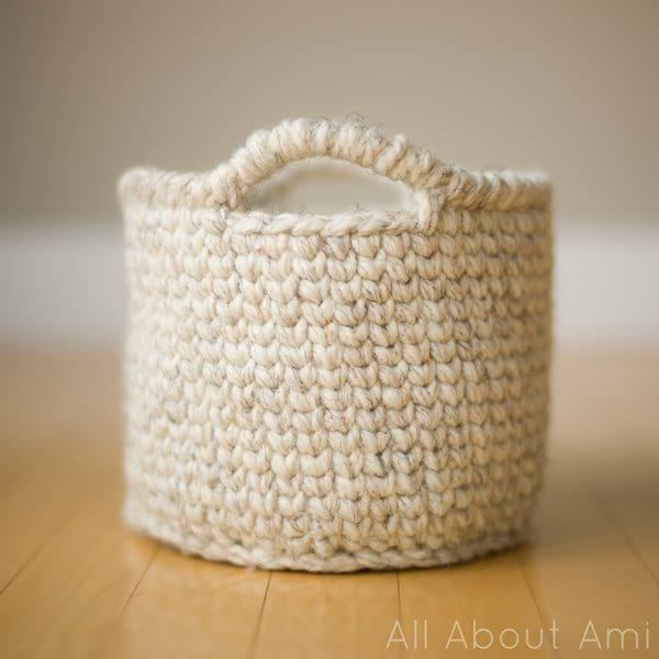Waistcoat Crochet Basket All About Ami