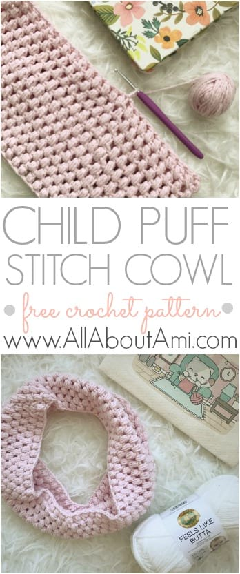 Child Puff Stitch Cowl