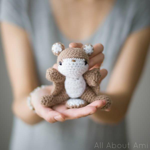 The Crochet Wildlife Guide: Flying Squirrel Amigurumi