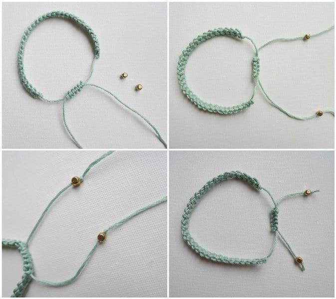 Crochet Cord Bracelet Tutorial