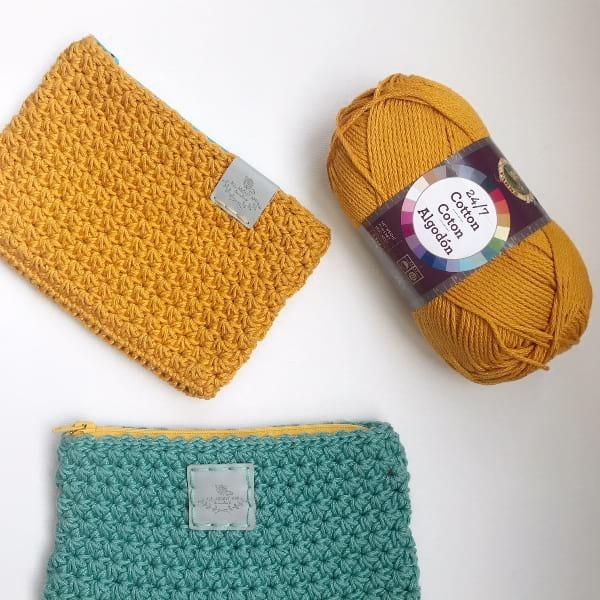 Star Stitch Pouches & 24/7 Cotton Yarn