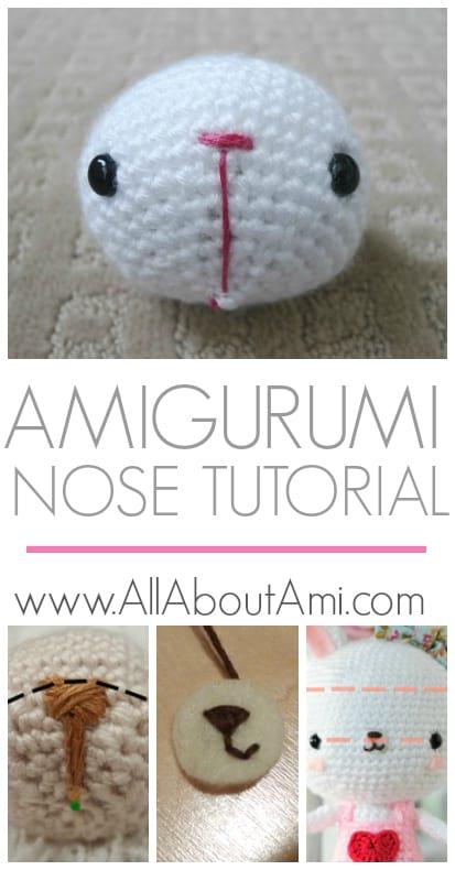 How To Stitch Teddy Bear Nose | Crochet teddy bear pattern ... | 790x413