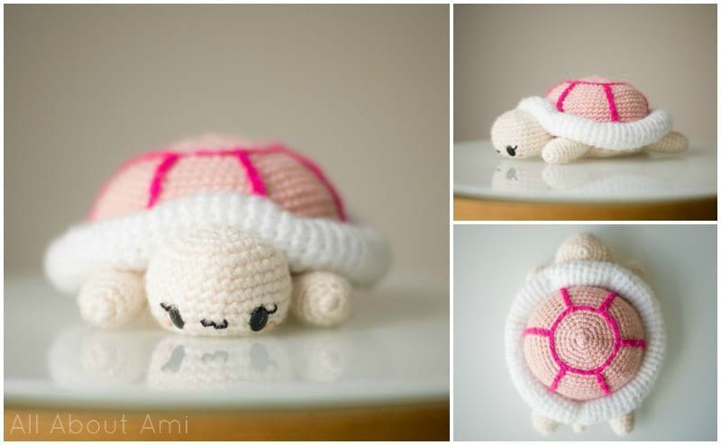 Original Little Bigfoot Turtle Free Crochet Pattern | 494x800