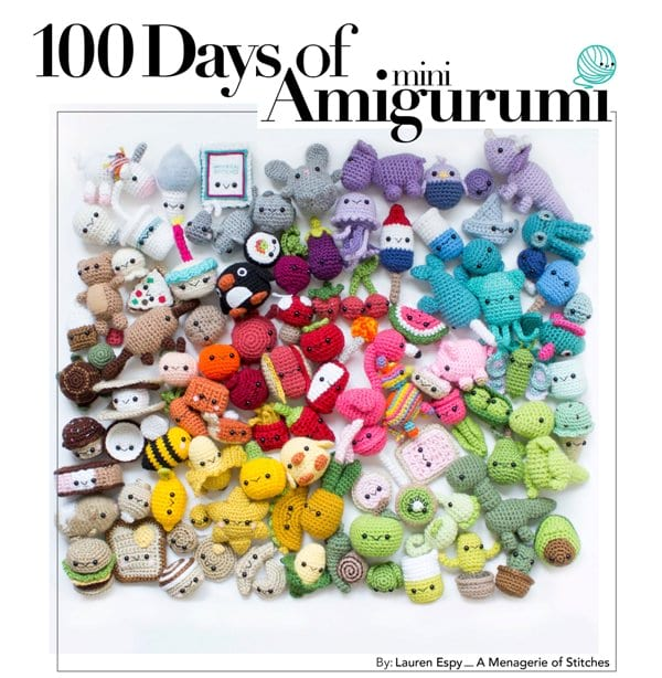 100 Days of Amigurumi eBook by A Menagerie of Stitches