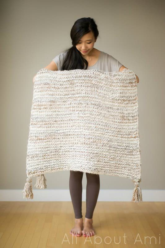 Simple Garter Stitch Blanket