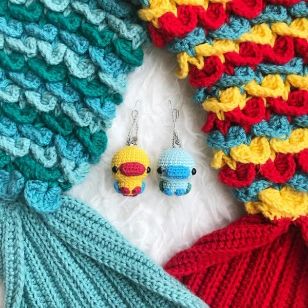 Ducklings by Jenn of Croochet with Mermaid Tail Blankets
