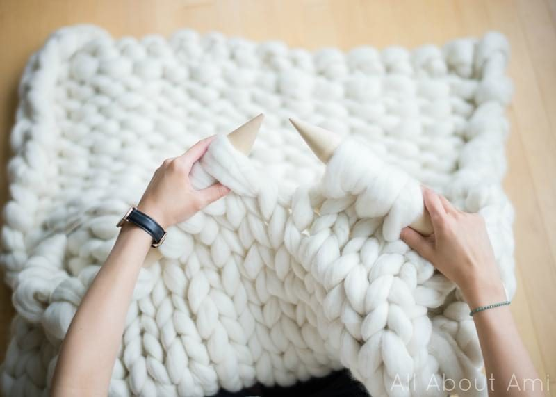 Extreme Knitted Blanket by All About Ami