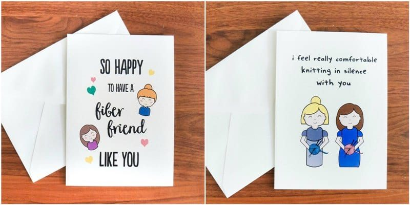 Fiber Friends Greeting Cards by La Reserve Design