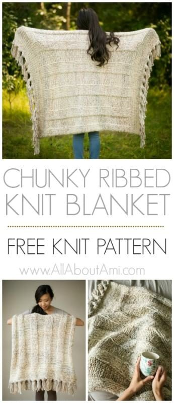 Chunky Ribbed Knit Blanket