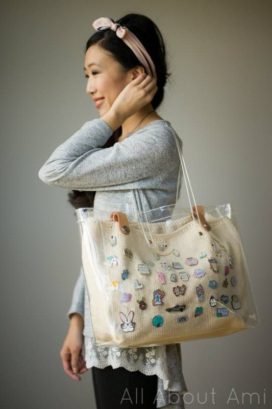 Knit Enamel Pin Display Bag - All About Ami