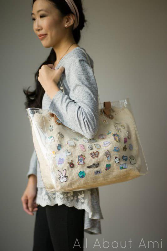 Knit Enamel Pin Display Bag